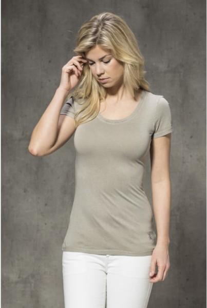 Kurzarm-T-Shirt uni pallet