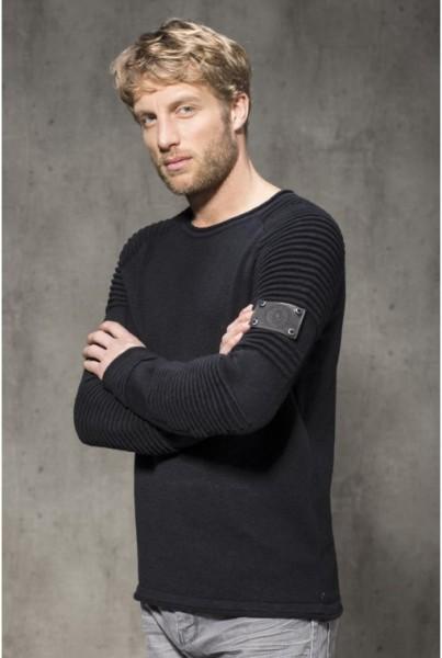 Hollywood Pullover Baumwolle schwarz