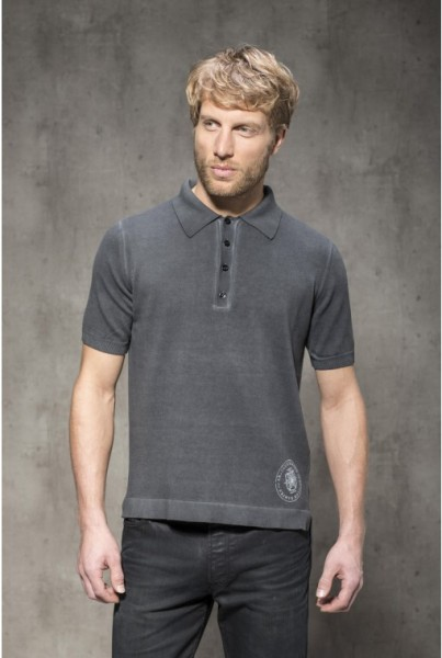 Polo Shirt Kurzarm anthrazit