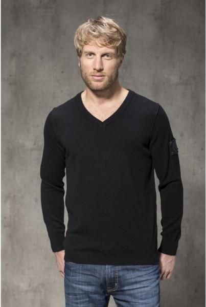 Cashmere Pullover klass. V-NECK schwarz