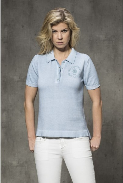 Damen-Polo-Shirt hellblau