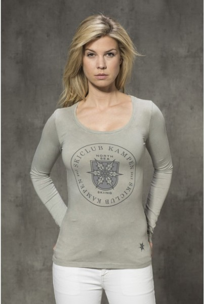 Langarm-Shirt mit Frontprint pallet