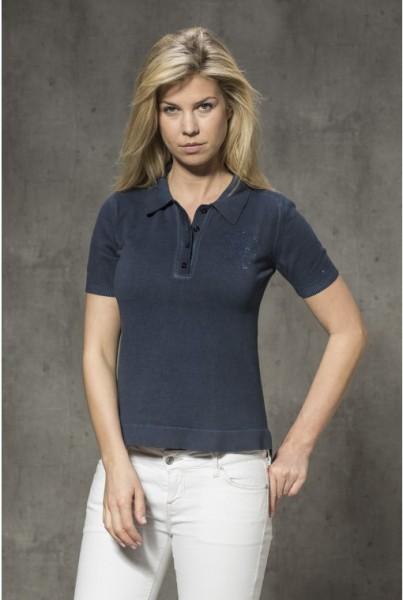 Damen-Polo-Shirt marine