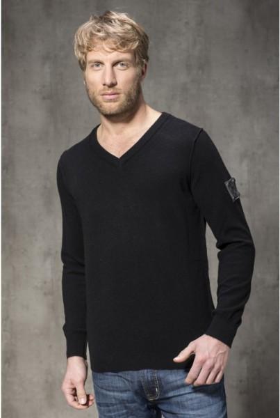 Cashmere BVB Pullover V-NECK schwarz
