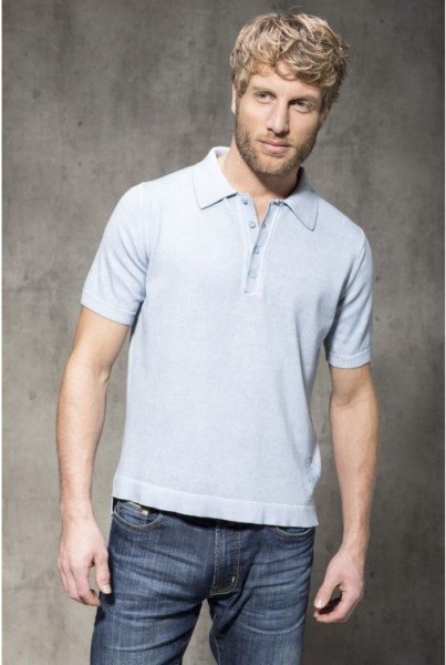 Polo Shirt Kurzarm hellblau